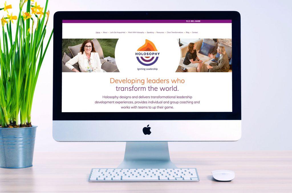 Holosophy Leadership web design