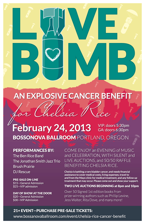 LoveBomb Poster design