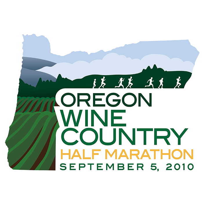 Oregon Wine Half Marathon logo design