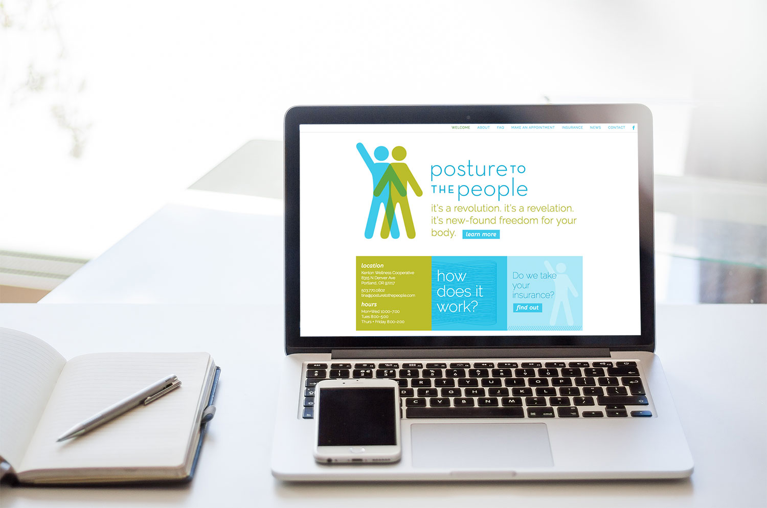 Posture_to_the_People_website_development