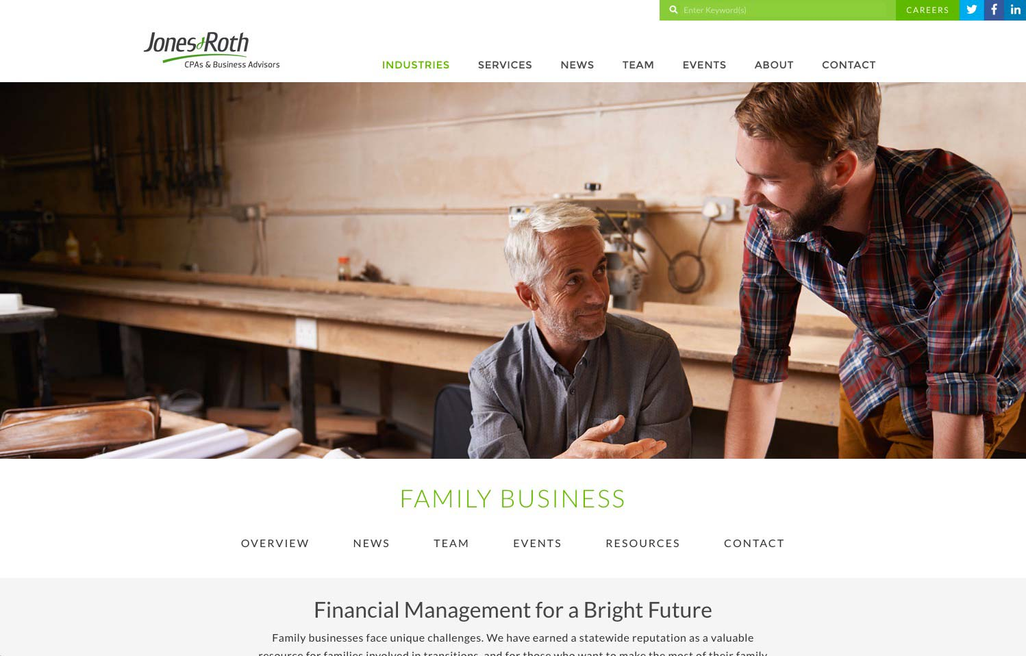 jones and roth family business website