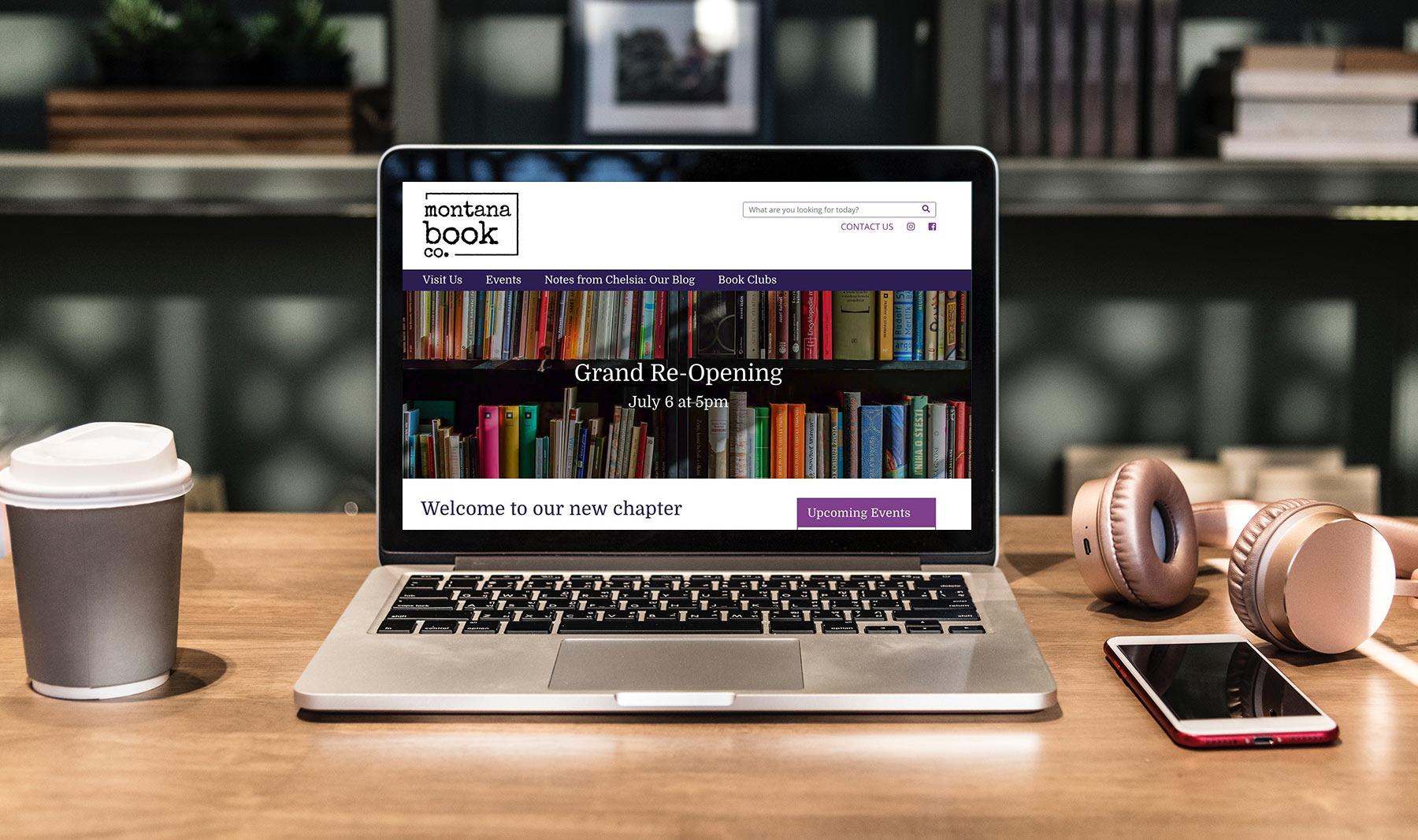 montana book company website design