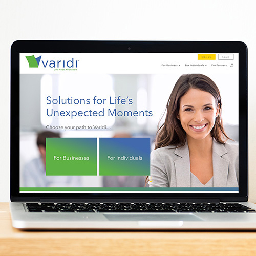 varidi redesign website design