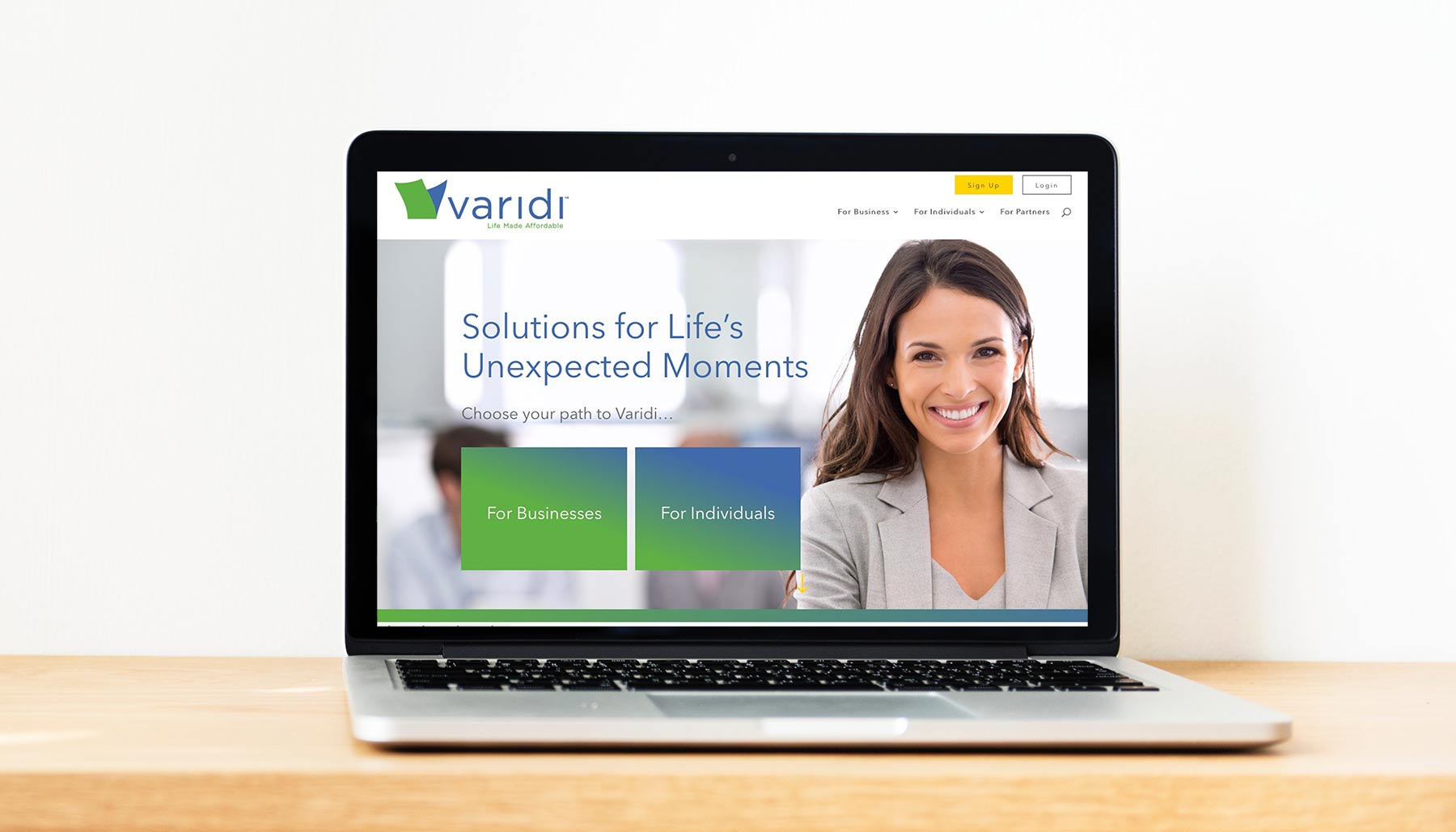 varidi website design