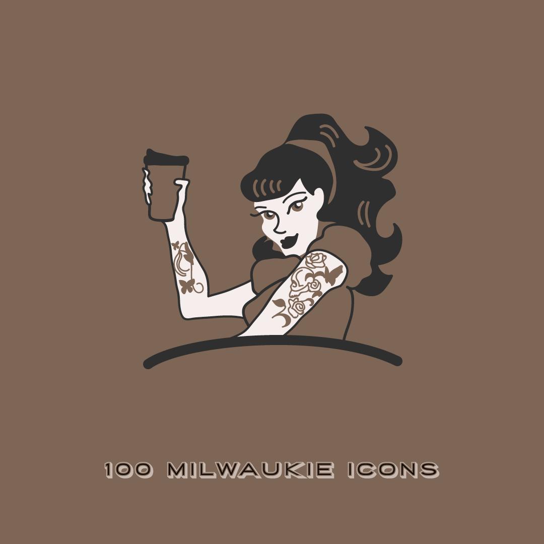 Painted Lady Coffee illustration