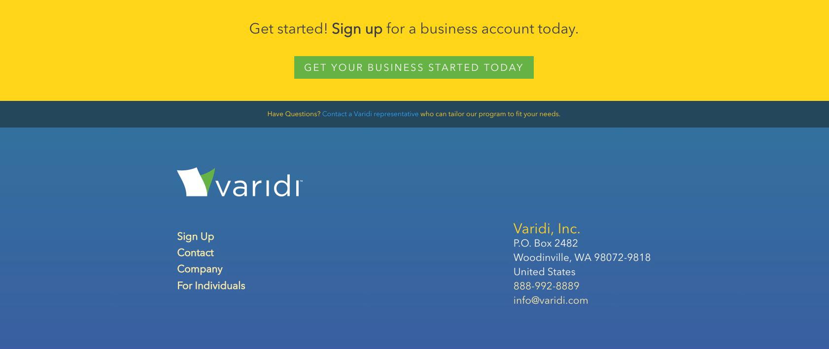 Varidi Website Design
